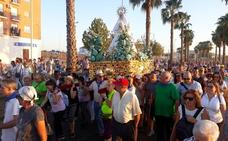 Multitudinario recibimiento a la Virgen de las Cruces de Don Benito