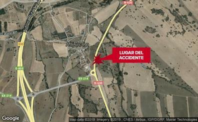 Un ciclista de 70 años resulta herido al ser atropellado cerca de Aljucén