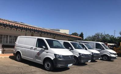 La Diputación de Badajoz gasta 130.000 euros en renovar su flota de furgonetas