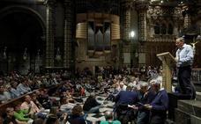 Torra lee una plegaria en solidaridad con los encausados por el 1-O en la Basílica de Montserrat