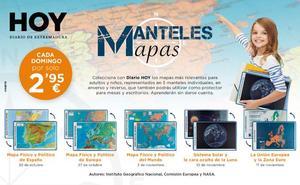 Colección de manteles con mapas