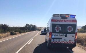 Una mujer resulta herida leve en un choque frontal entre un coche y un camión en la N-432