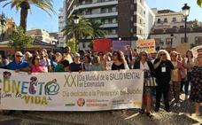Seiscientas personas participan en Almendralejo en el XXI Día de la Salud Mental