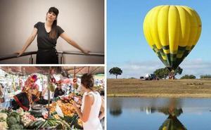 Cultura crea Turismo llega a Moraleja con mercado saludable, Chloé Bird y globo cautivo