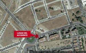 Un motorista herido al sufrir una caída en Mérida