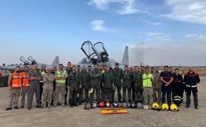 Dos F-5 de Talavera han participado en el desfile de la Fiesta Nacional