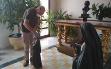 Técnicos de la Junta evalúan los efectos del fuego en la parroquia de Cabeza del Buey