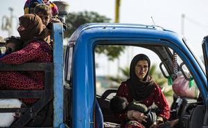 Rusia patrulla entre Siria y Turquía