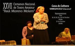 Un certamen de teatro amateur congrega en Torrejoncillo a compañías de Asturias, Madrid, Toledo y Badajoz