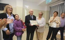 El centro de mayores de la Zona Sur dedica un homenaje a José Ciudad, de 94 años