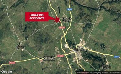 Herido un motorista en un accidente en la N-630 cerca de Cáceres