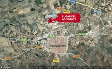 Un hombre de 58 años resulta herido en un accidente de tráfico en Don Benito