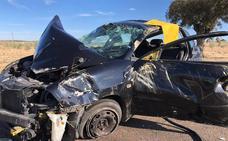 Accidente ocurrido en la carretera Ex 346, que une Don Benito con Quintana de la Serena
