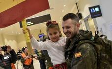 Regresa a Badajoz el primer contingente de militares extremeños desplegados en Letonia
