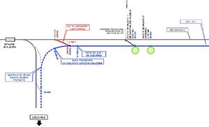 Adif licita la sustitución de un puente ferroviario en Gévora para adaptar la alta velocidad