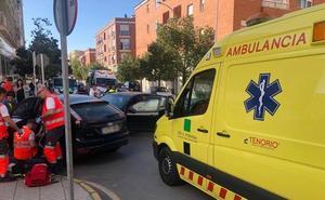Tres heridos en una colisión frontolateral en Badajoz