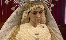 La imagen de la Virgen del Rosario ya está en Santa María tras ser restaurada