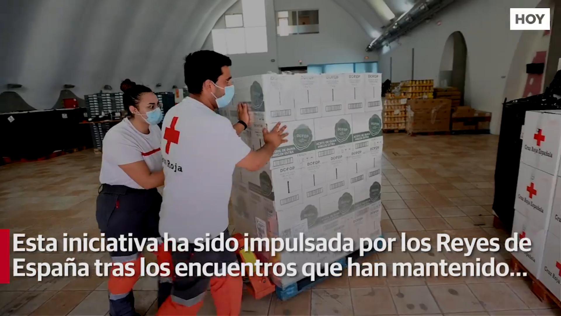 Instituciones nobiliarias donan leche y aceite de oliva a Cruz Roja