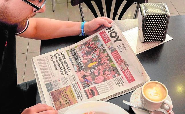 El periódico más cotizado está en el bar