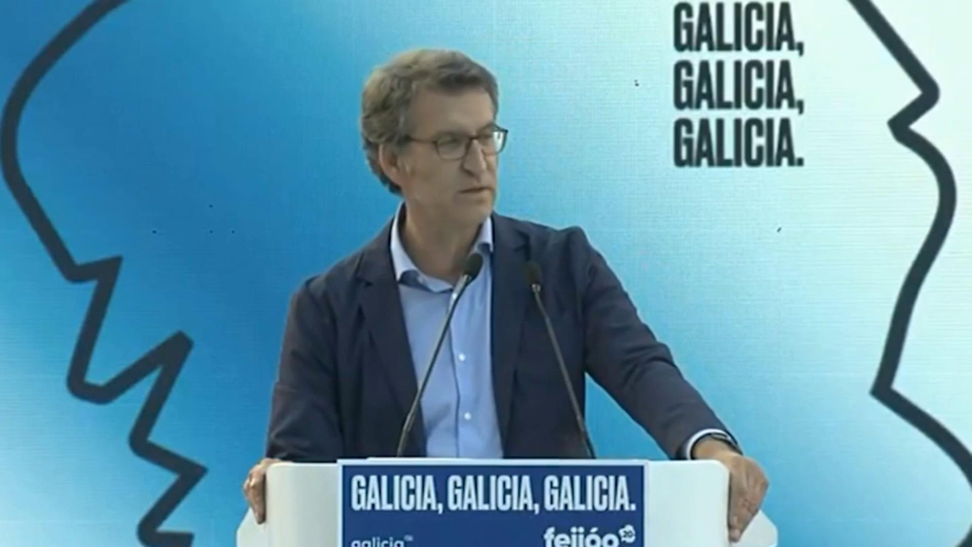 """Feijóo cierra con una última llamada a votar: """"¡Por Galicia!"""""""