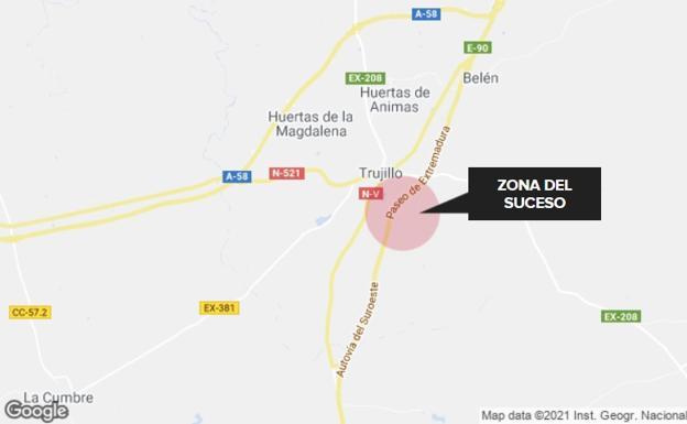 Mujer de 53 años resultó gravemente herida en accidente en la A-5 cerca de Trujillo