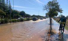 Agua turbia en la red de abastecimiento de Badajoz debido a la rotura de cuatro tuberías