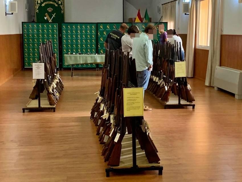 La Benemérita reanuda las subastas de armas y saca 763 para el 15 noviembre en Badajoz