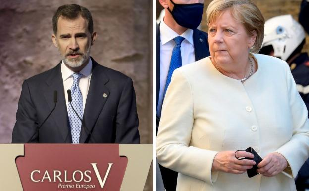 Felipe VI presidirá la entrega del Premio Europeo Carlos V a Angela Merkel