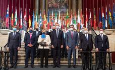 Merkel aboga en Yuste por una Europa unida para afrontar los nuevos retos