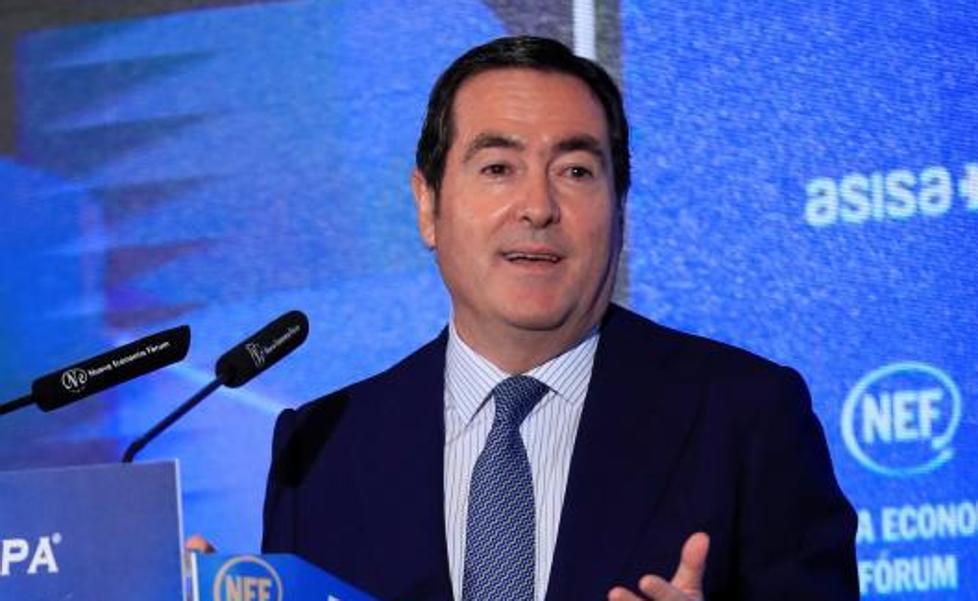 El presidente de la CEOE, Antonio Garamendi. EP