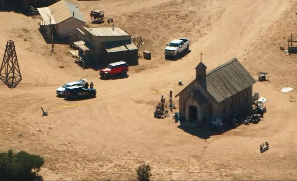 Vista aérea del set donde tuvo lugar el accidente.