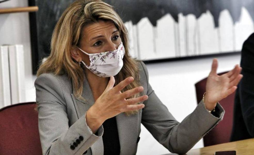 La vicepresidenta segunra, Yolanda Díaz.