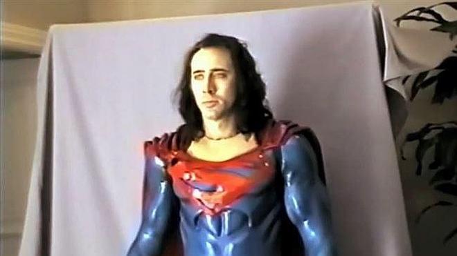 Así lucía Nicolas Cage como Superman
