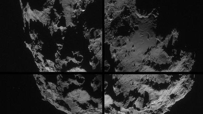 La sonda Rosetta envía imágenes de un cometa a 50 kilómetros de distancia