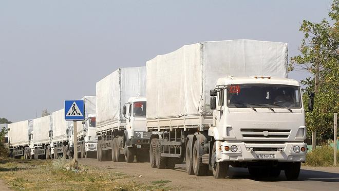 Regresa a Rusia el convoy de ayuda humanitaria destinada al este de Ucrania