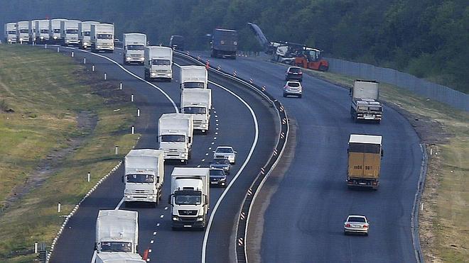 Un tercer convoy ruso de ayuda humanitaria llega Donetsk