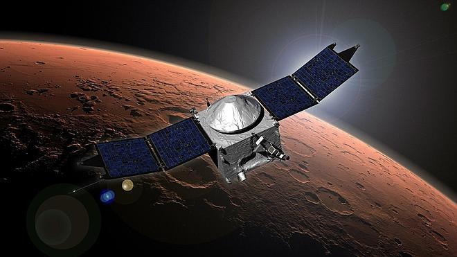 La sonda Maven comienza a orbitar en torno a Marte