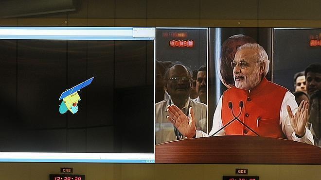 La India logra colocar su sonda en la órbita de Marte