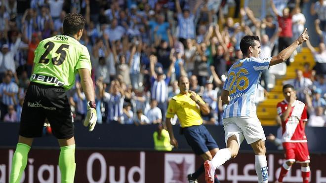 El Málaga busca su tercera victoria seguida ante un Rayo en su mejor momento