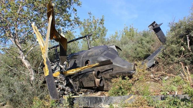 Dos muertos al estrellarse un helicóptero cargado de droga en Málaga