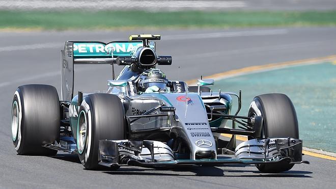 Rosberg, el más rápido en Melbourne