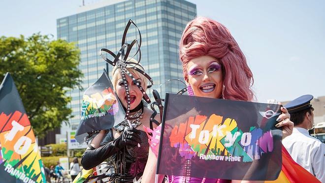 Miles de japoneses se concentran por la legalización del matrimonio homosexual