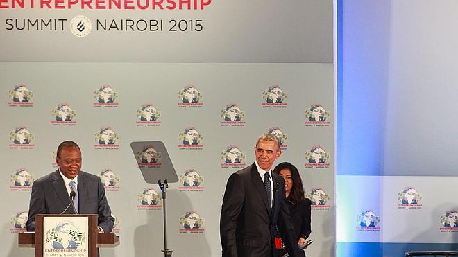 El chef José Andrés, en la Cumbre Global de Emprendedores de Nairobi con Obama