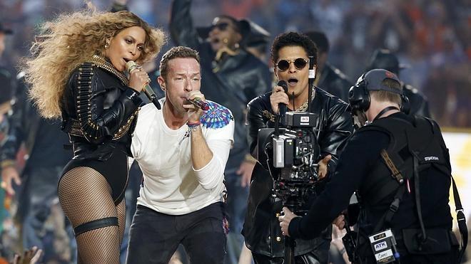 Coldplay, Beyoncé y Bruno Mars encienden la Super Bowl