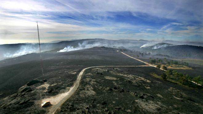 Un 20% menos de hectáreas arrasadas por el fuego en España durante 2016