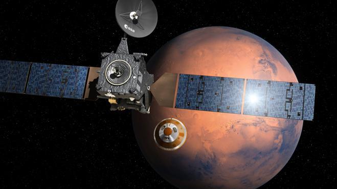 La sonda Schiaparelli ha tocado suelo en Marte pero «no emite señales»
