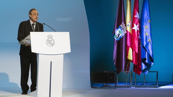 Florentino Pérez: «He arriesgado mi patrimonio personal por ustedes»