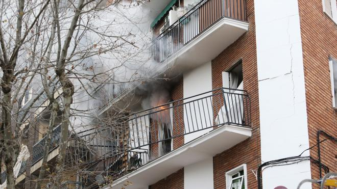 Nueve heridos, uno de ellos grave, en una explosión de gas en Salamanca