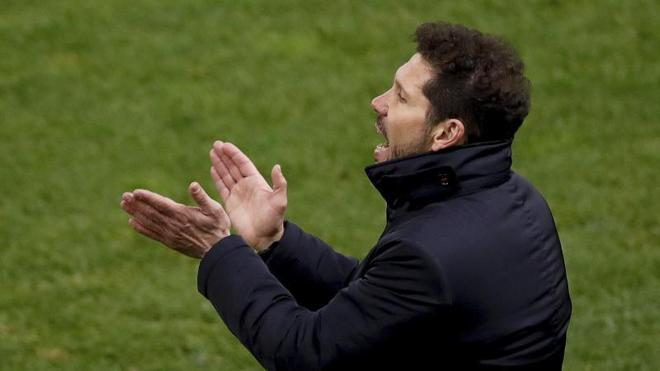 Simeone: «Fue un clásico partido de Copa, siempre peligroso»