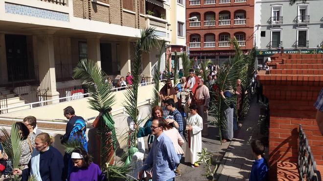 'La Borriquita' lució con decenas de hebreos